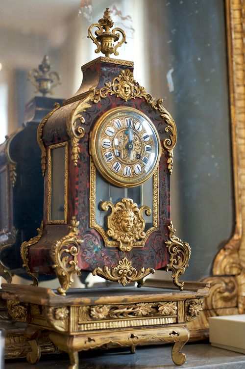 An antique clock sits atop Erin Fetherston's mantle. (Photography: Carol Dronsfi...