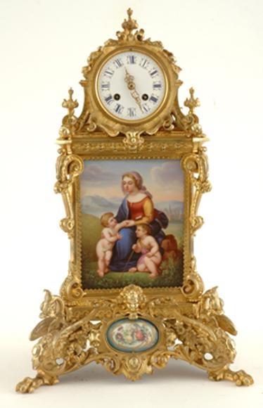 An impressive French gilt bronze mantel clock Levy Freres, circa 1880, having an...