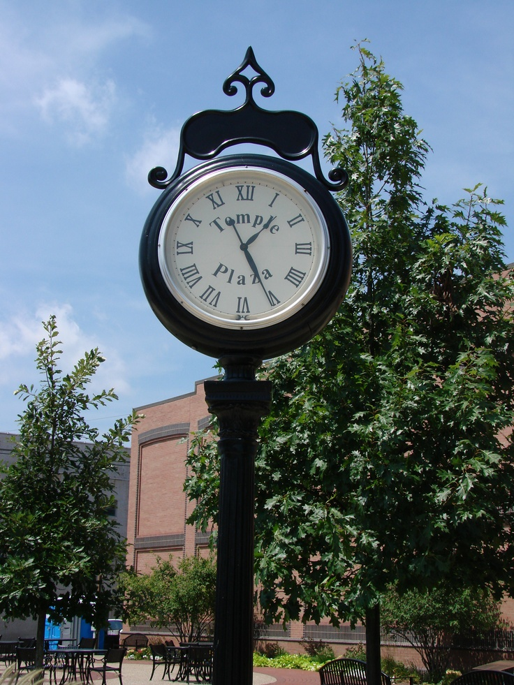 Iron clock, downtown Danville, Illinois