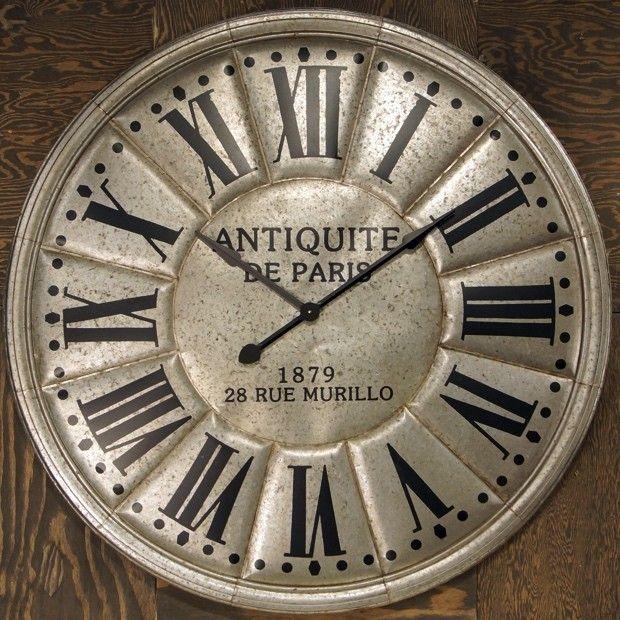 Huge Metal Wall Clock
