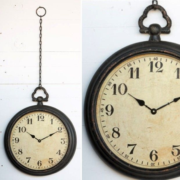 Pocket Watch Wall Clock With Chain