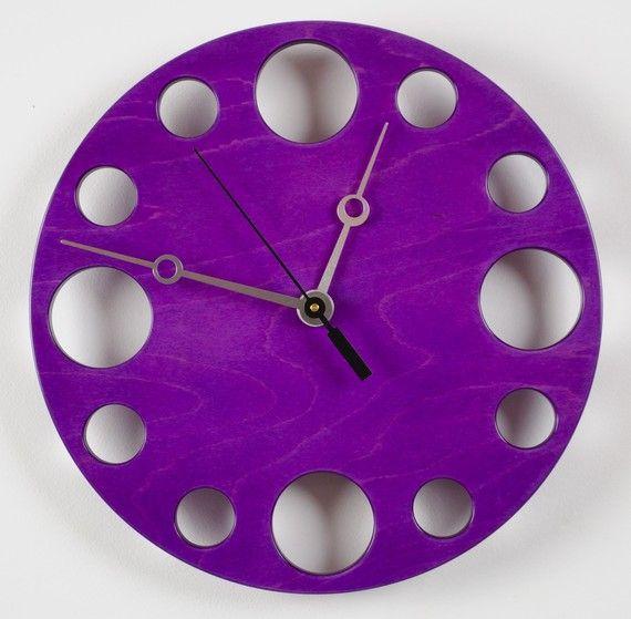 POP Clock Purple Wall Clock on Etsy.