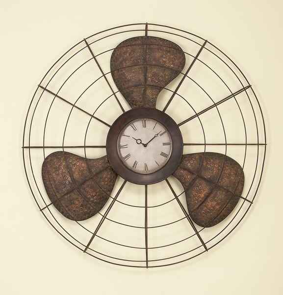 vintage fan turned clock...