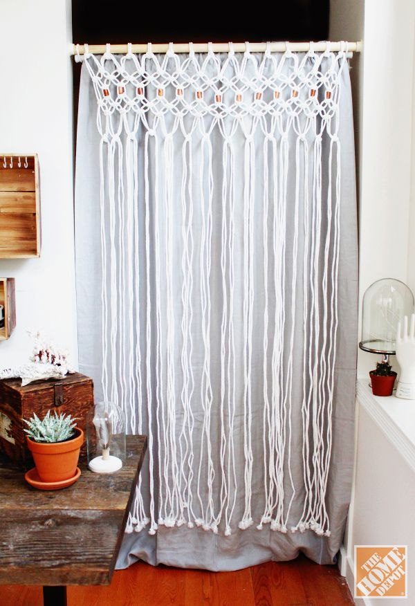 How to Macrame a Room Divider - The Home Depot