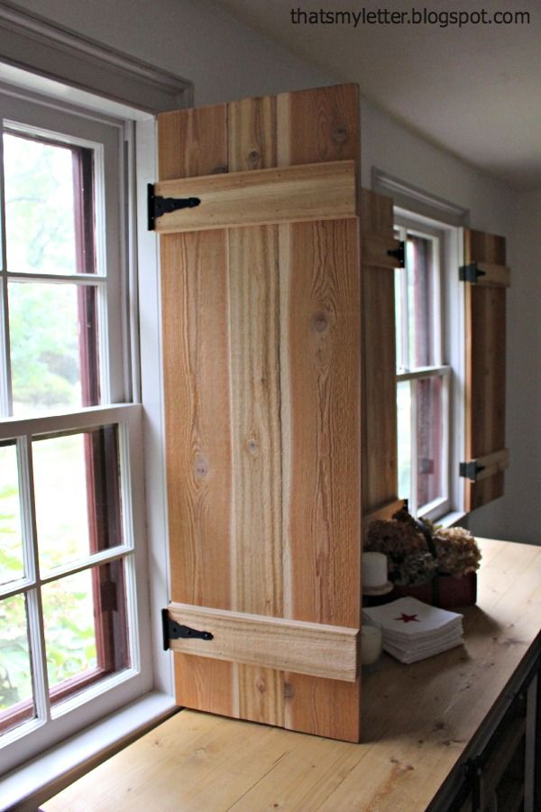 Interior Cedar Shutters-Feature by Pretty Handy Girl