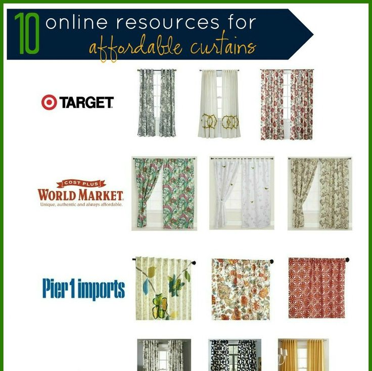 10 Online Resources for Affordable Curtains