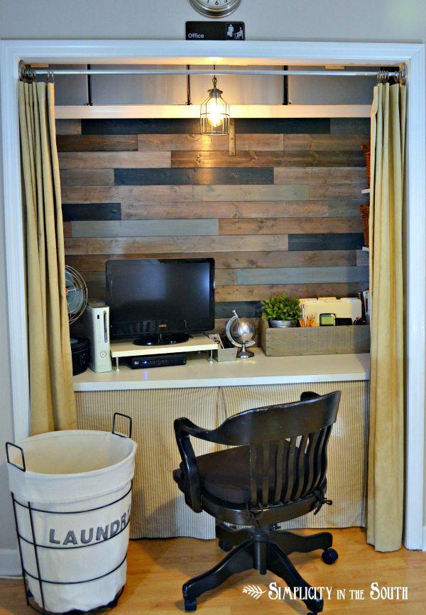 Closet Office Organization On A Budget- {small home/ BIG IDEAS}
