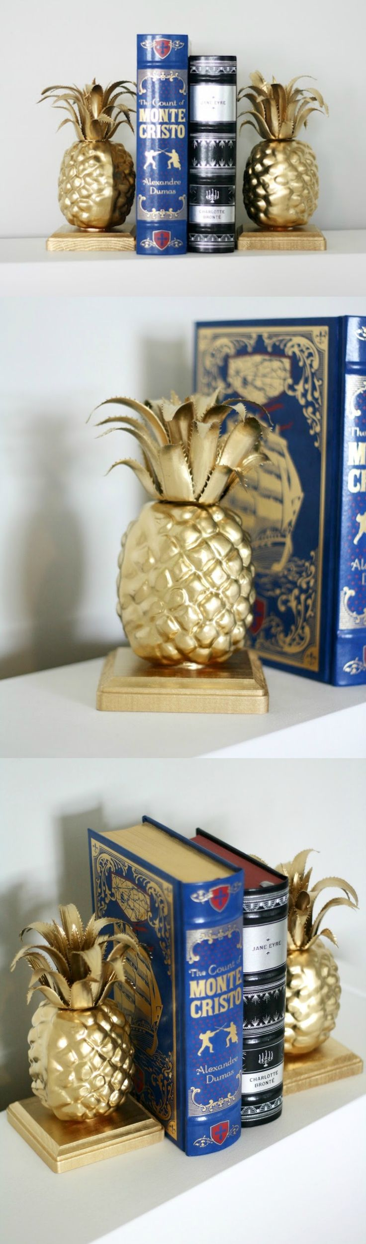 Easy Pineapple DIY Bookends You Need on Your Shelf