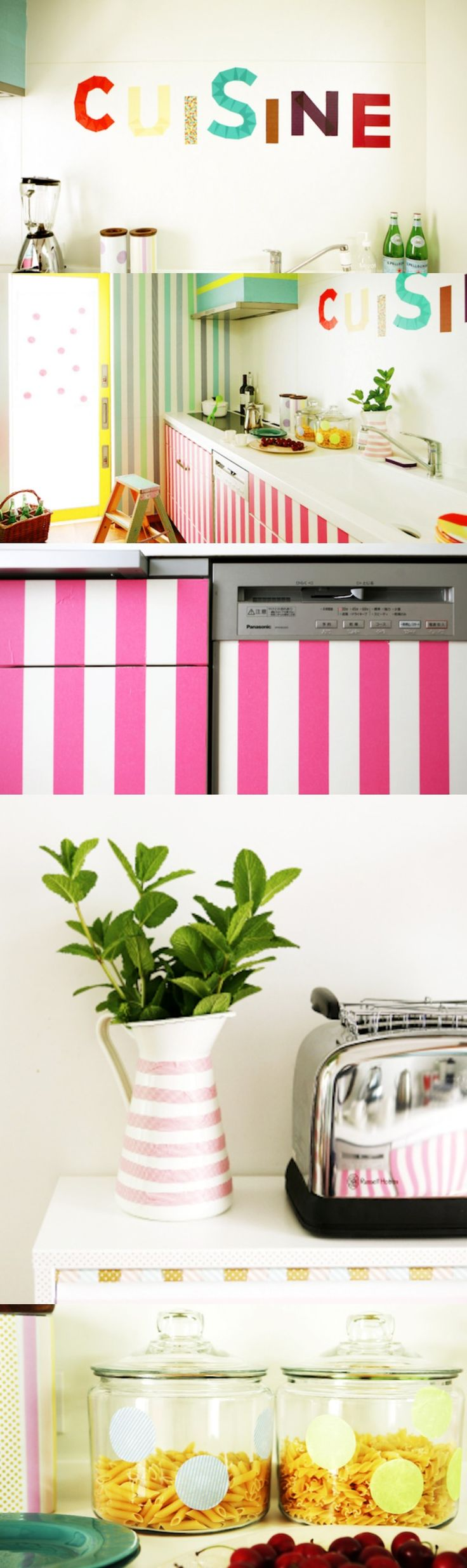 How to Decorate Your Kitchen with Washi Tape