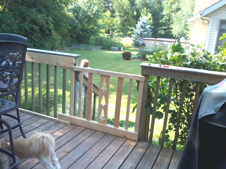 New sliding gate to keep dog on the deck.