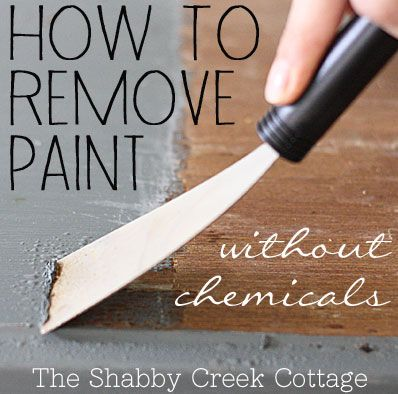 Remove paint from furniture without chemicals (step-by-step instructions)