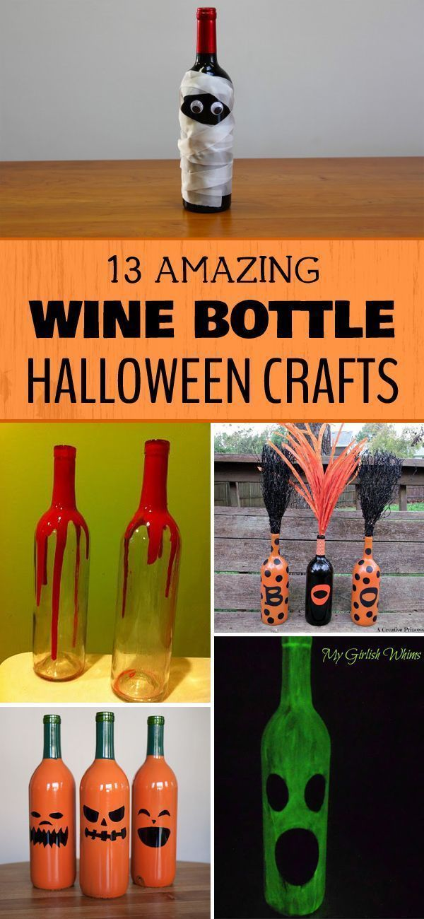 13 Amazing Wine Bottle Halloween Crafts - A great way to reuse the bottles from ...