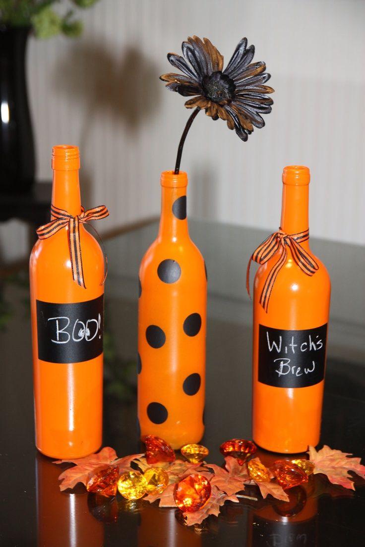 Halloween Wine Bottle Decor. $24.00, via Etsy.