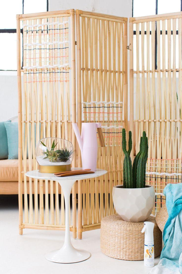 DIY Ikea Hack Woven Room Divider