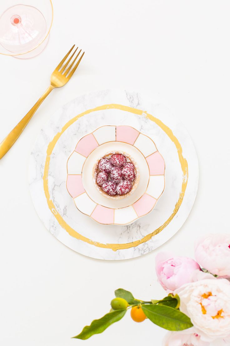 Decorative DIY Marble Plates - Sugar & Cloth Decor