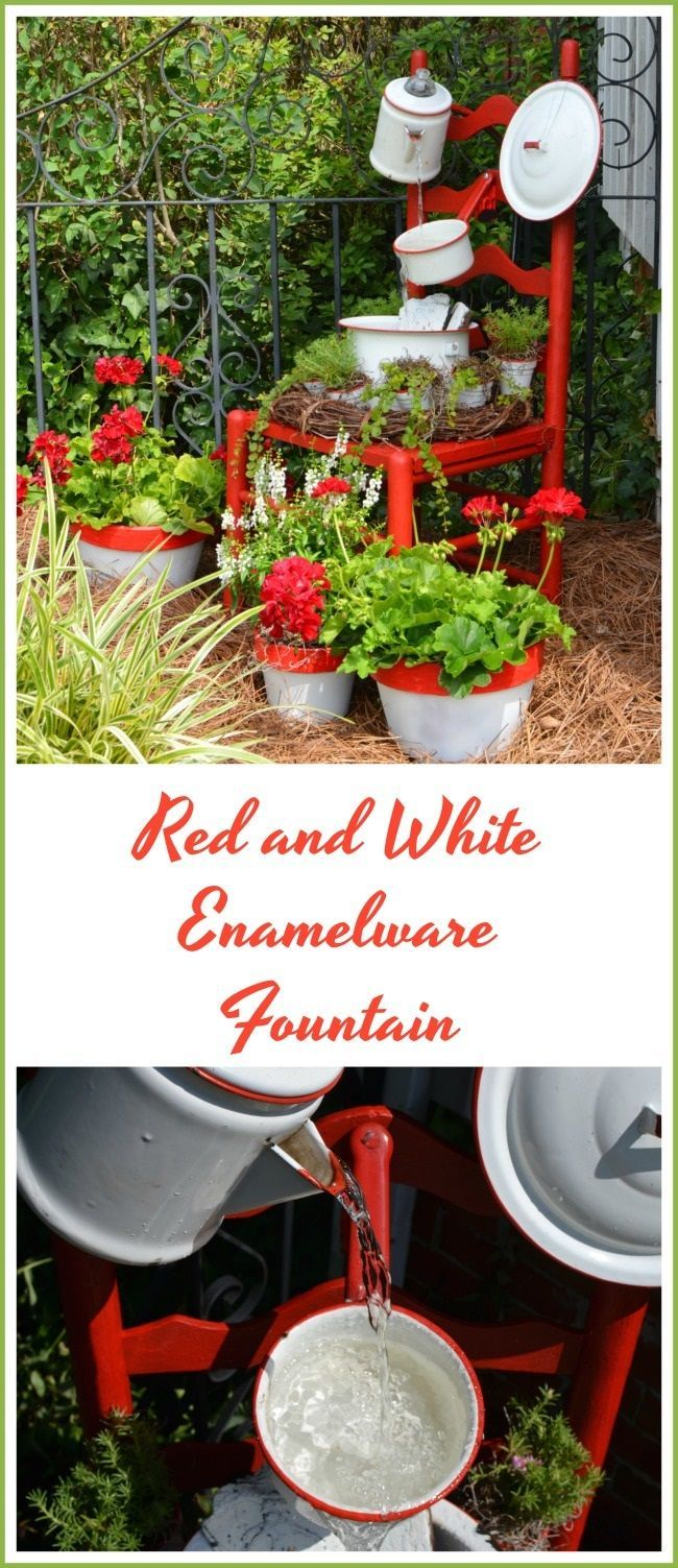 Enamelware Chair Fountain and a Giveaway