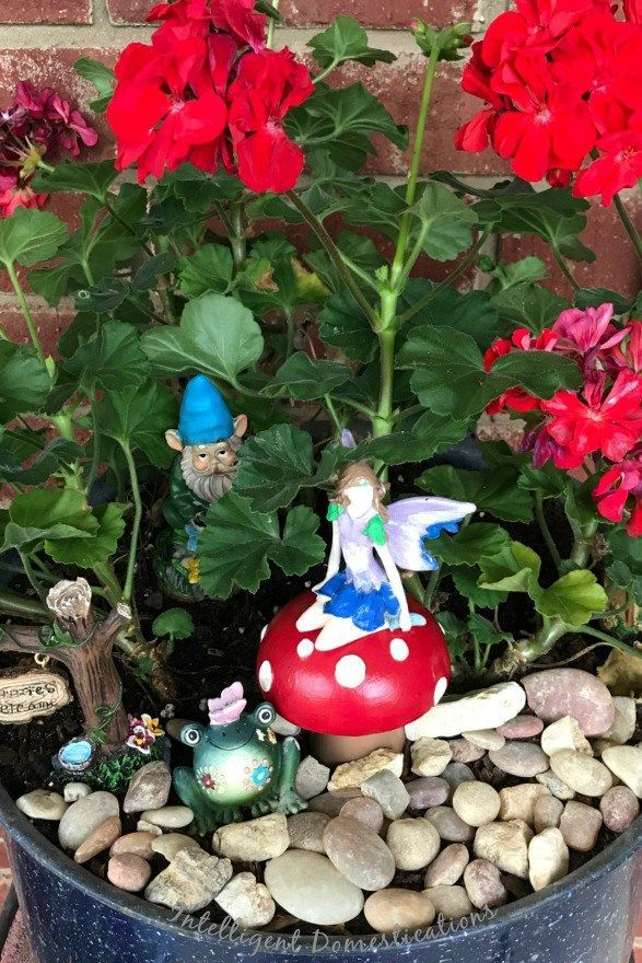 Fairy Garden Mushrooms Made From Salt & Pepper Shakers