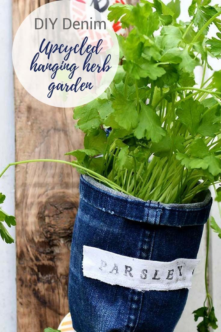 How To Make Indoor Herb Garden Planters From Denim