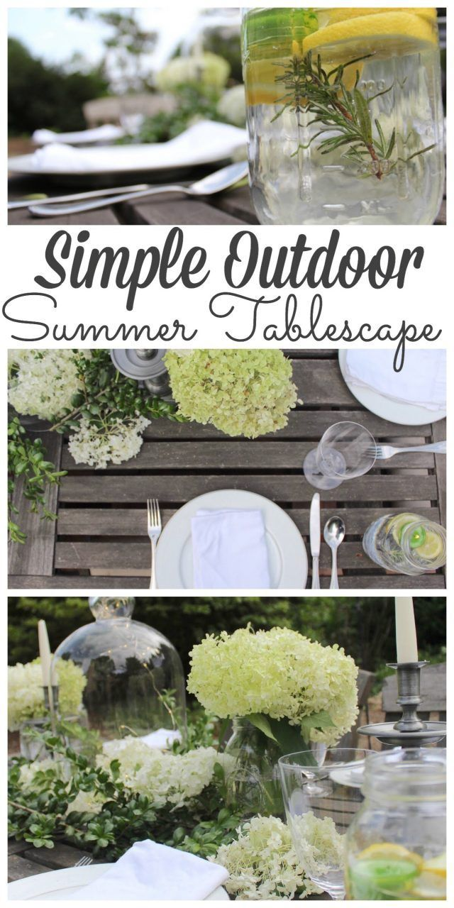 Outdoor Summer Tablescape for a Fancy Alfresco Dinner