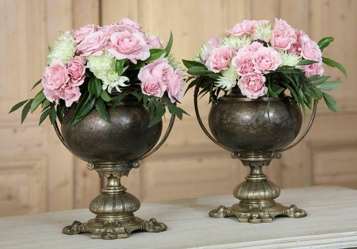 Pair Antique Beaux Artes Period Mantel Urns   Antique Urns/Jardinieres   Inessa ...
