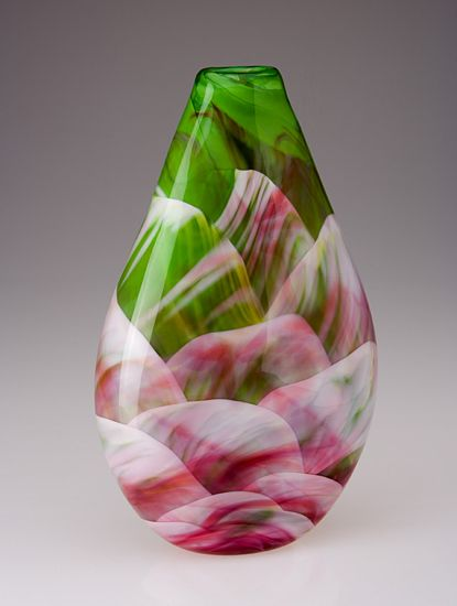 Tear Drop by Mark Rosenbaum -   (Art Glass Vessel)