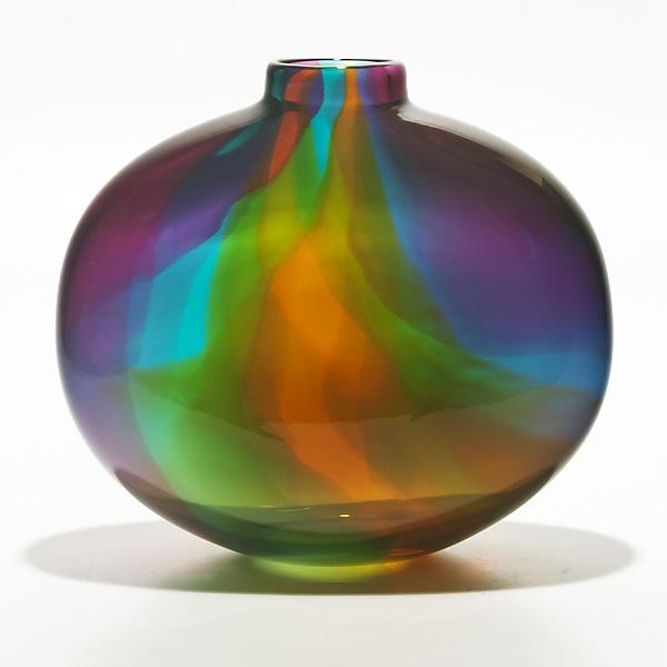 Color Ribbon Vase by Michael Trimpol and Monique LaJeunesse (Art Glass Vase) | Artful Home