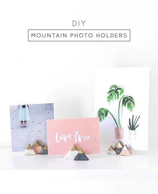 DIY Photo Holder: Mini Mountain Photo Holders