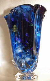 Blown Glass Vase | Hand Blown Art Glass Vase | Hand Blown Glass Vase