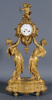 French Figural Bronze Mantle Clock $12,650 at Fairfield Auction www.fairfieldauc...