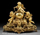 Napoleon III Gilt-Bronze Mantel Clock, mid-19th c.