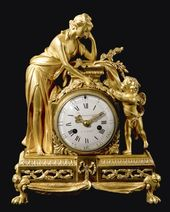 Reloj LuisXVI de Bronce Dorado