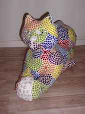 'Chat jouant avec une pelote (Playing Mosaic Cat statue)' by Nad�ge Gesvres