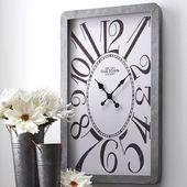 Modern Farmhouse Galvanized Wall Clock