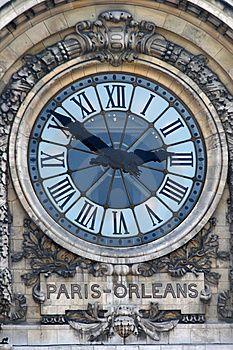Paris - Orleans Clock stock photo. Image of orleans, clock - 8076408
