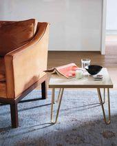 Brass-Leg Side Table | Martha Stewart. #diyprojects #diyideas #diyinspiration #d...
