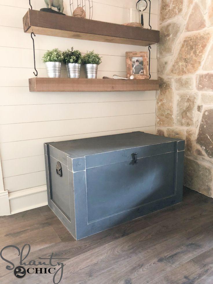DIY Modern Farmhouse Trunk