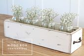 DIY Wood Box Centerpiece - Love Grows Wild