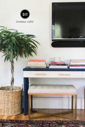 Ikea Hack: DIY Console Table