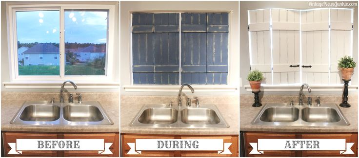 DIY Upcycled Shutter, Before & After, by Vintage News Junkie