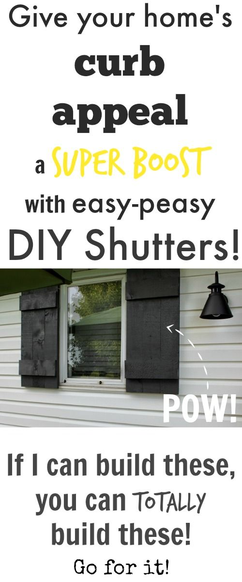 Easy DIY Shutters | The Creek Line House
