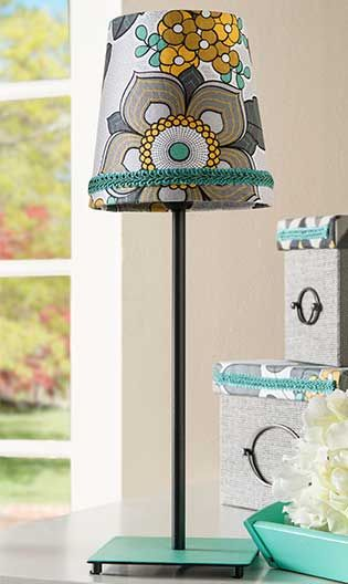 Fabric Covered Lampshade - Project