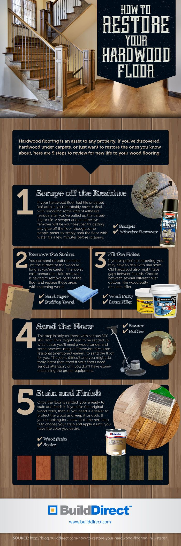 How To Restore Your Hardwood Floor: An Infographic