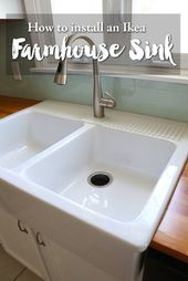 Installing an Ikea farmhouse sink - Weekend Craft