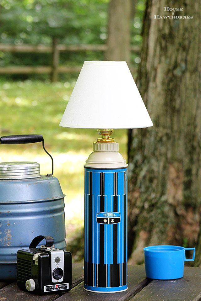 Vintage Thermos Lamp Tutorial