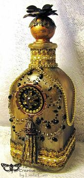 FRIENDS in ART: The Magic of A Golden Bottle on the Finnabair Blog Today
