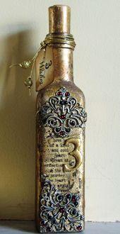 artistic craft dabbler: 3 Wishes Altered Bottle
