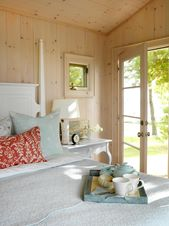 Cabin Bedroom With Tranquil Bedding