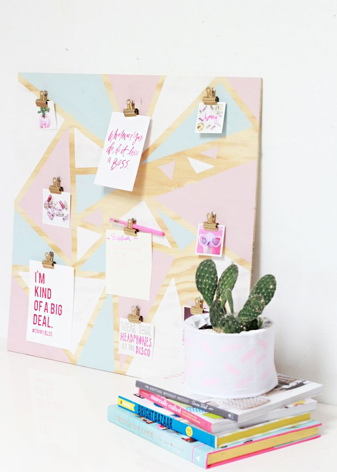 DIY Geometric Organization Inspiration Board - A Bubbly Life