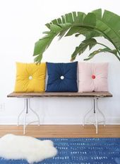 Primp Your Place with DIY Button Tufted Pillows - Francois et Moi