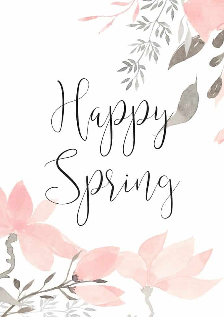 Happy Spring - Let's Celebrate with a Lovely Free Printable - Inspiration For Moms